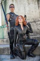 Black Widow _ Hawkeye Cosplay by ReginaIt