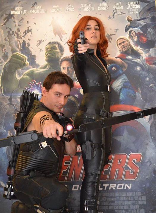 Black Widow And Hawkeye Cosplay Age Of Ultron By Reginait