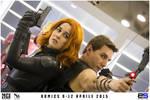Black Widow and Hawkeye - Iron Man Hall of Armors by ReginaIt