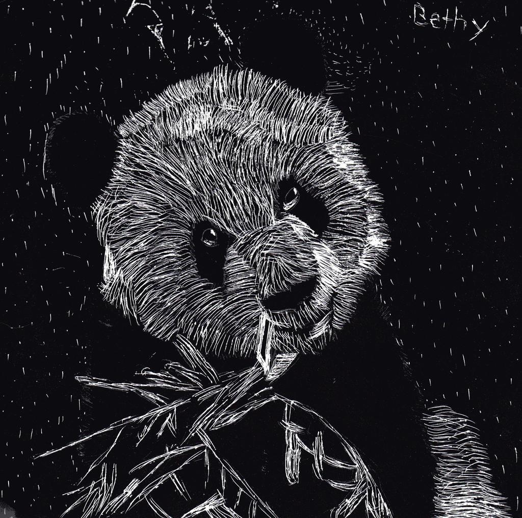 Scratch art Panda by bluepenguingirl on DeviantArt
