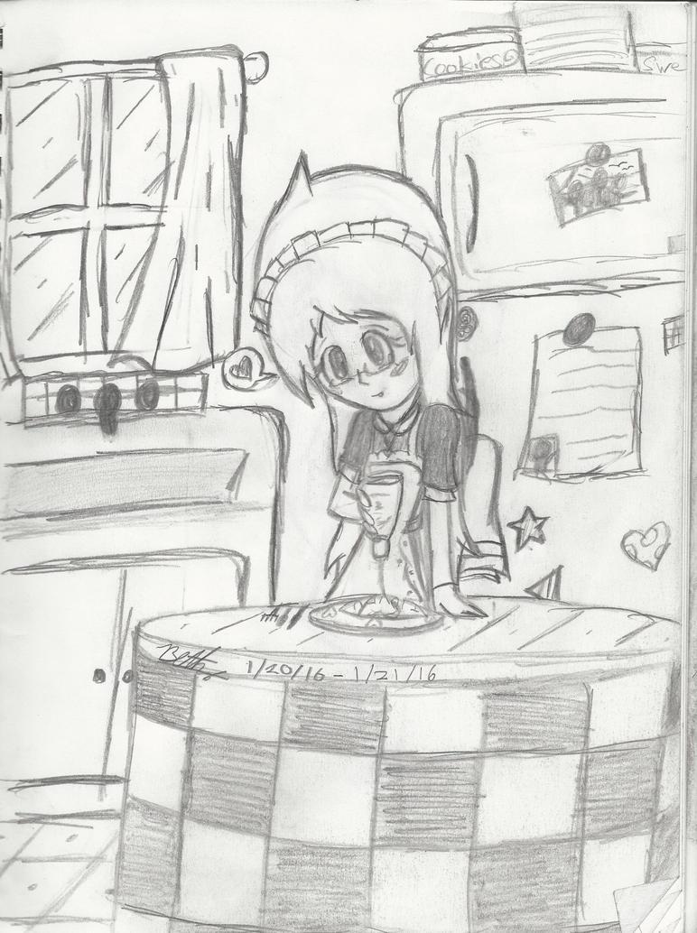 Making Omurice for Senpai by bluepenguingirl