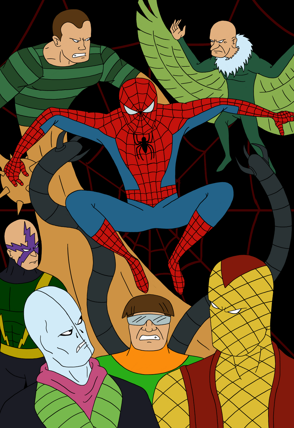 Spidey vs Sinister Six by MadMonkeyDane on DeviantArt