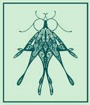 Green Moth Doodle