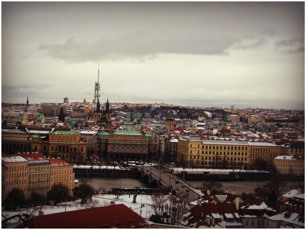 Prague panorama view by SeiMissTake