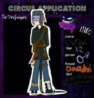 Evren- Black Circus app by DragonGirl46