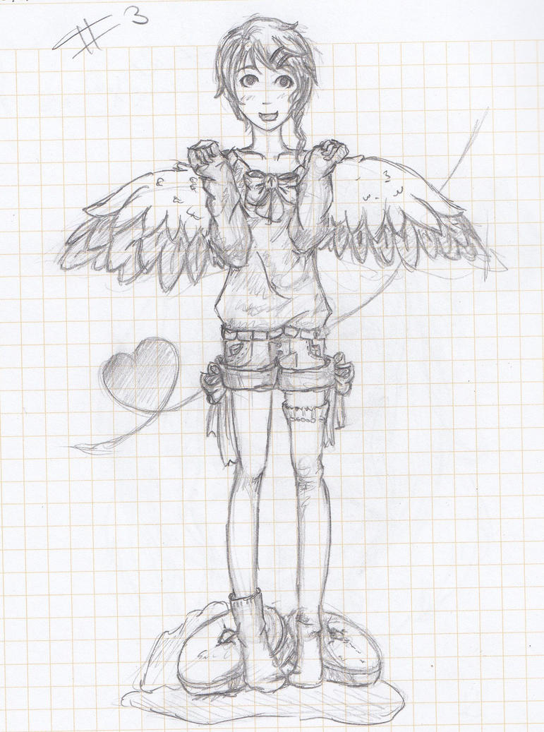 A cute angel by LuneDeLaNeige