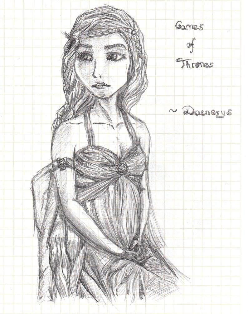Daenerys Targaryen by LuneDeLaNeige