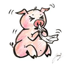 Piggy flu by Sliven