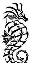 Tribal Tattoo: Seahorse