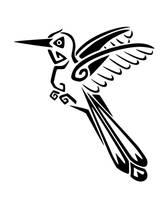 Tribal Tattoo: Hummingbird by nerds2x2ever