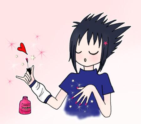 Sasuke - Nail Polish by CamillaBB