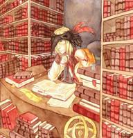Bookseller by kinixuki