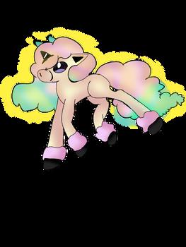 Galarian Ponyta glowing