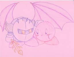 Kirby and Meta Knight by JediSandwich