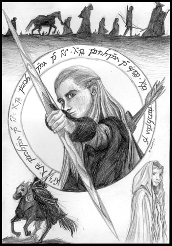 Lord of the Rings card by Deathscent on DeviantArt