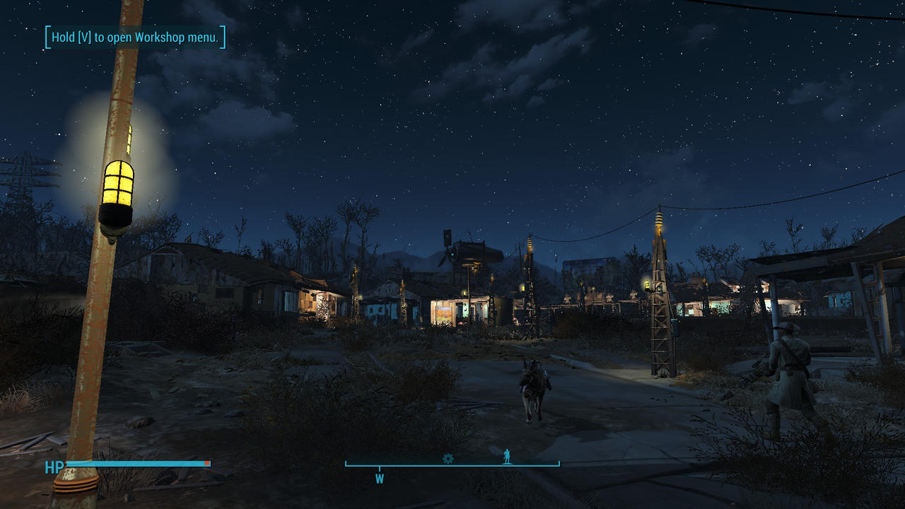 Fallout 4: Sanctuary Night View by psycopix