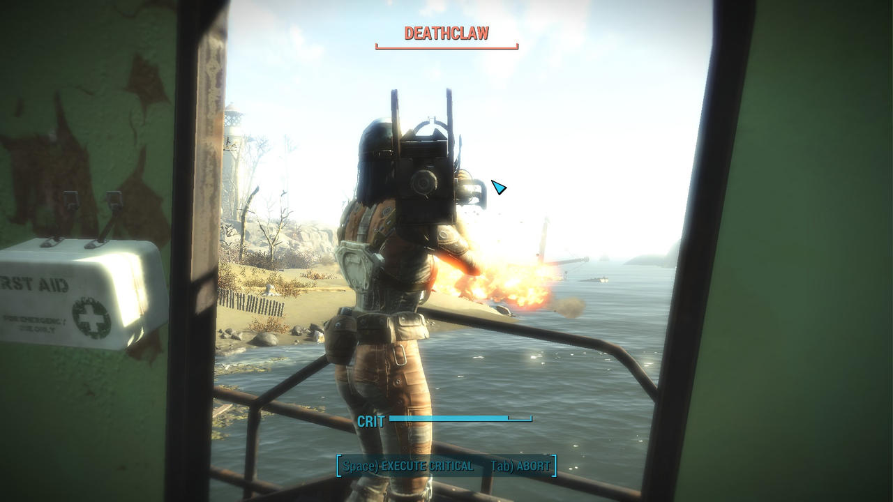 Fallout 4: Deathclaw Hit by psycopix