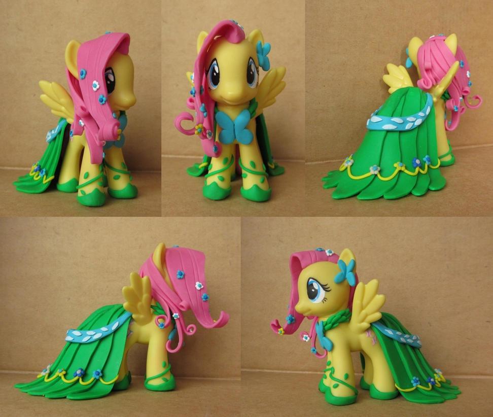 Fluttershy in Gala Dress Custom by atelok