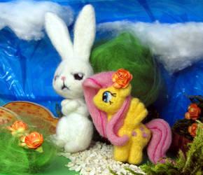 Bunny and Fluttershy by atelok