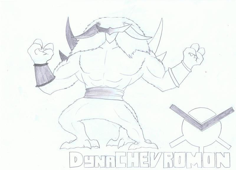 Fake-digimon: DynaChevromon by Awesometacious