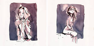 ink watercolor sketches