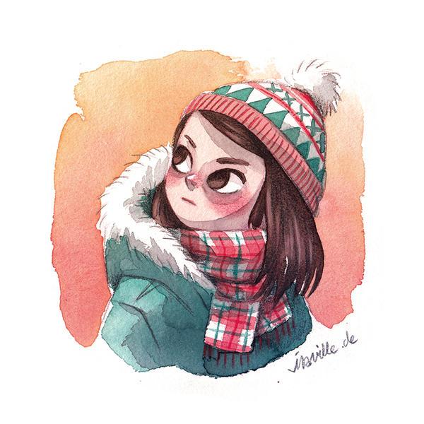 winter girl by iraville on deviantart