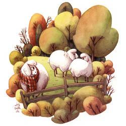 autumn sheeps
