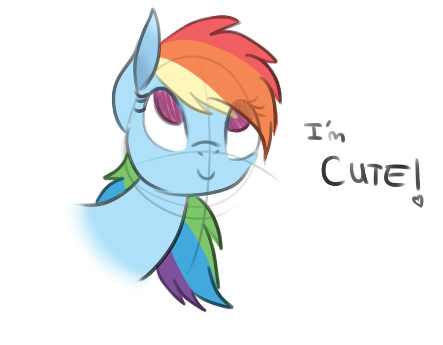 I'm CUTE! by Wolf-Spirit99