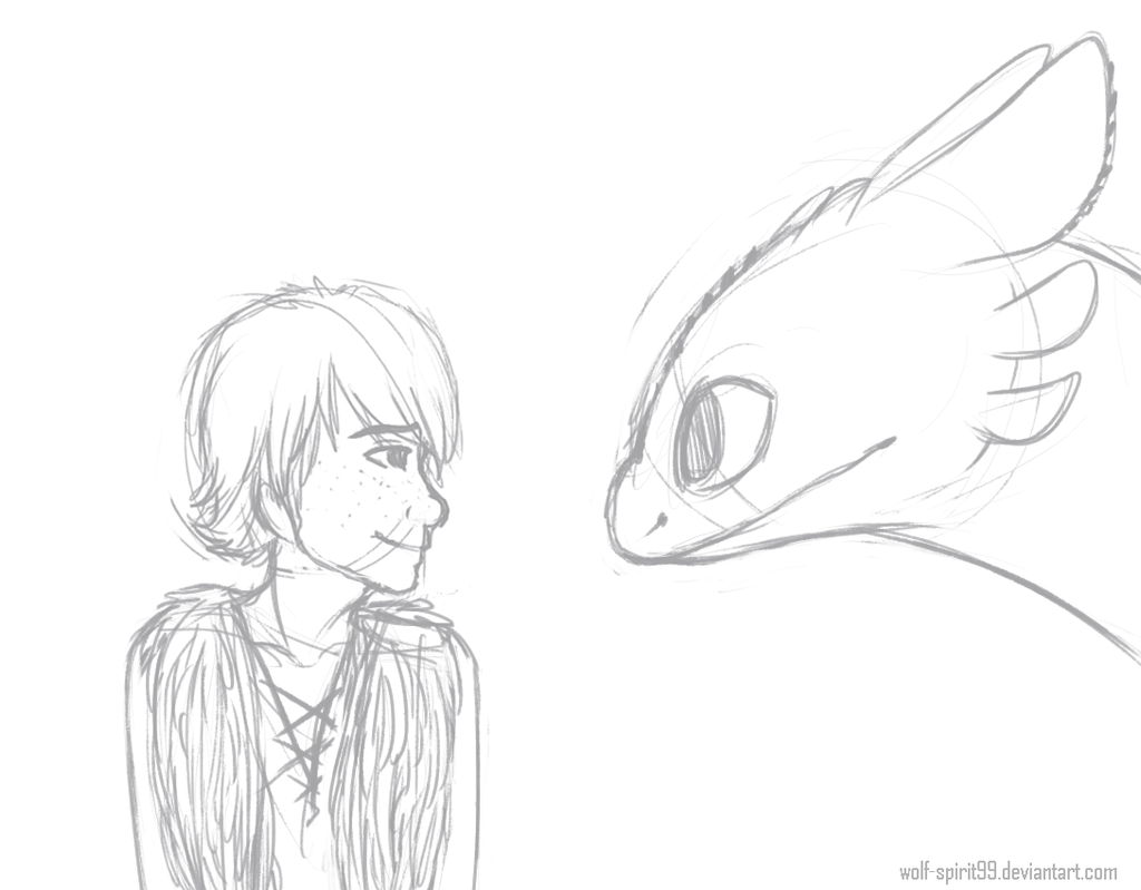 Hiccup And Toothless By Wolf Spirit99 Fan Art Digital Drawings