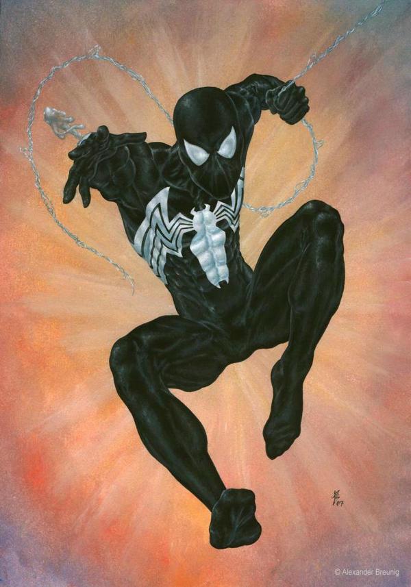 00 Black Symbiote Spider Man by bushande on DeviantArt