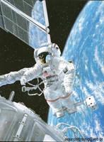 Astronaut NASA by bushande