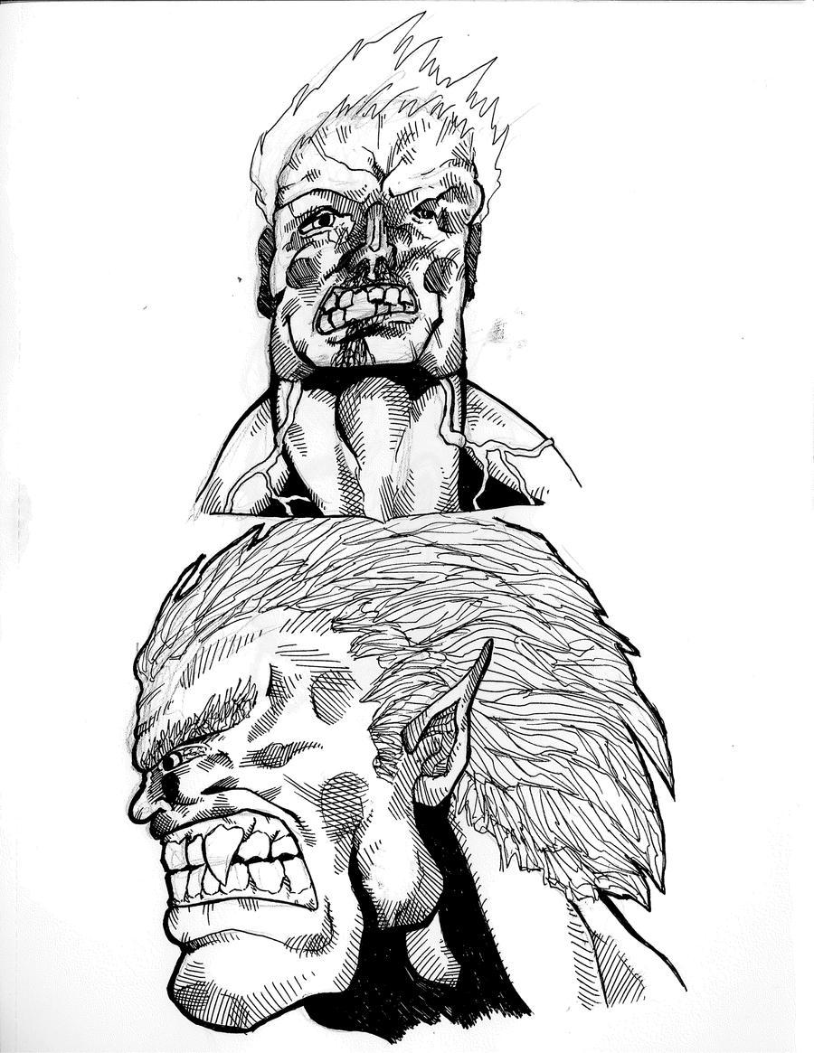 crazy faces form my sketchbook by thegakrules on deviantART