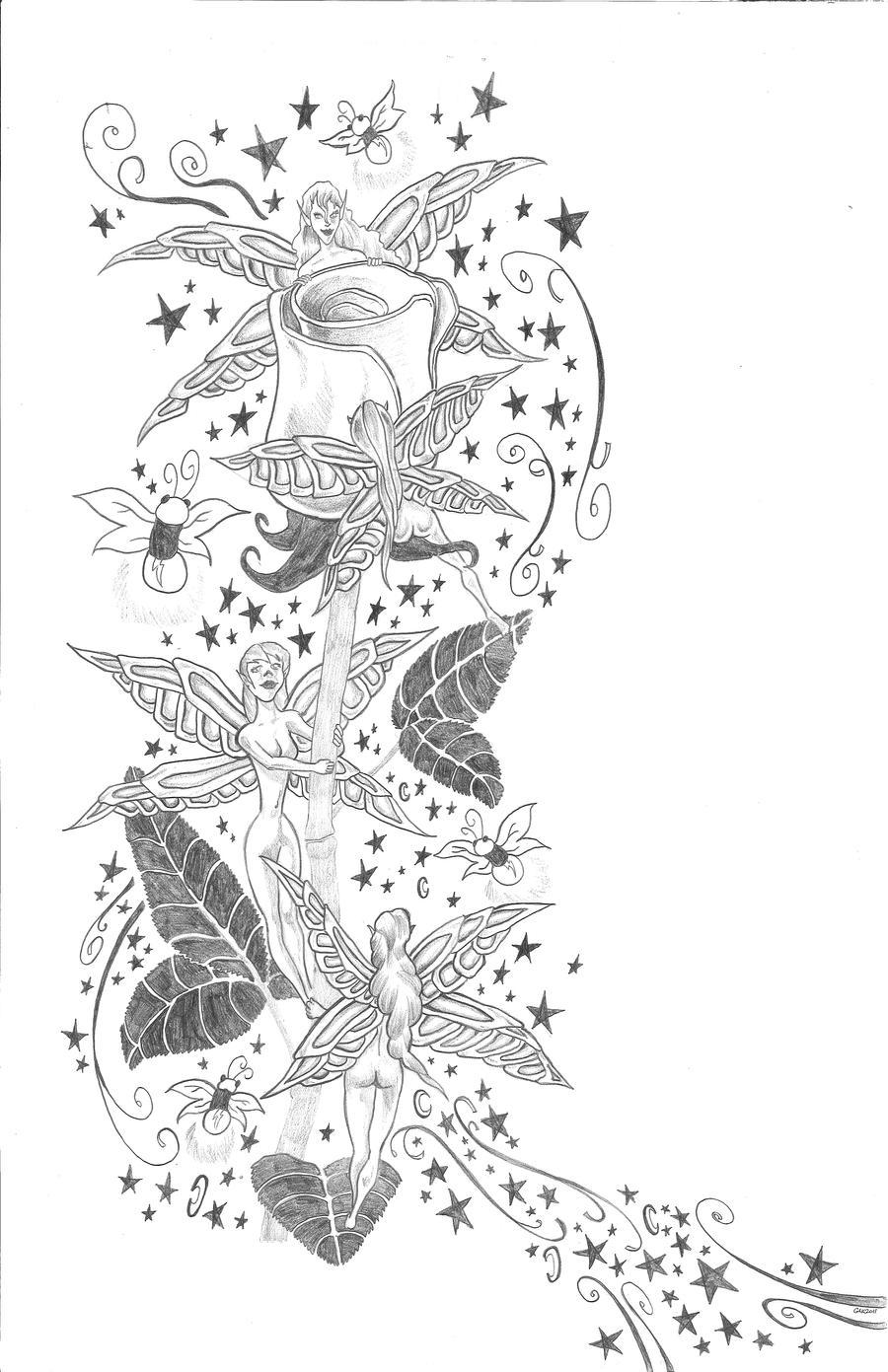 fairy tattoo design by thegakrules on deviantart. Black Bedroom Furniture Sets. Home Design Ideas