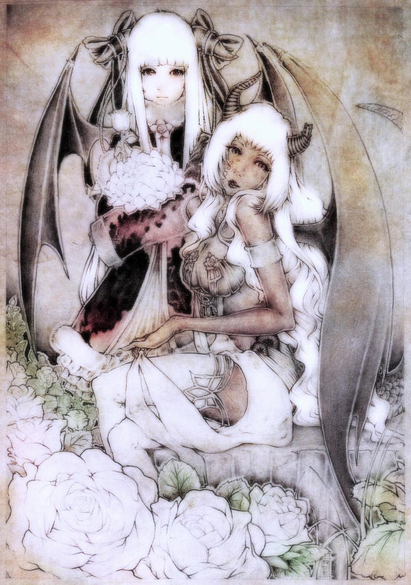 White Rose by Amdhuscias
