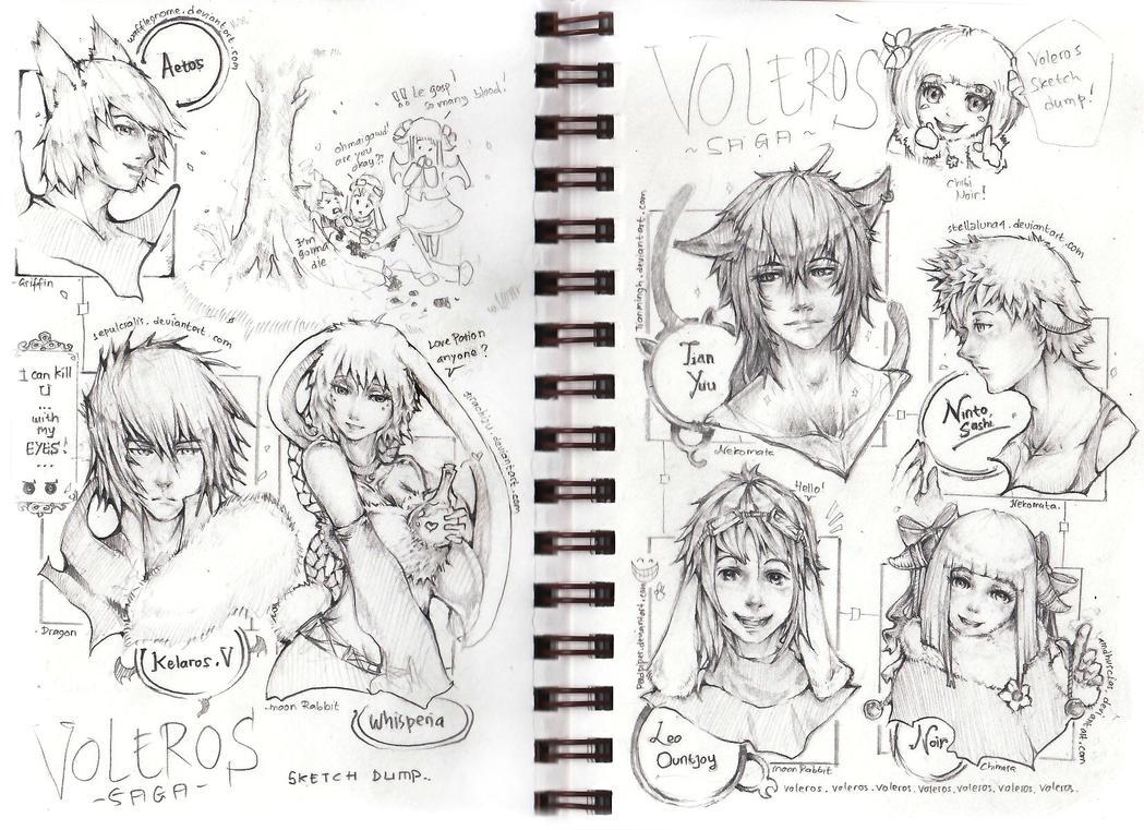 VolSa -Sketch Dump part I- by Amdhuscias