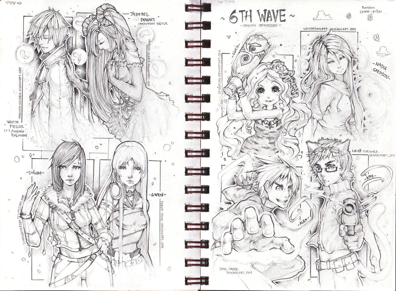 ::6th Wave Sketch com:: by Amdhuscias