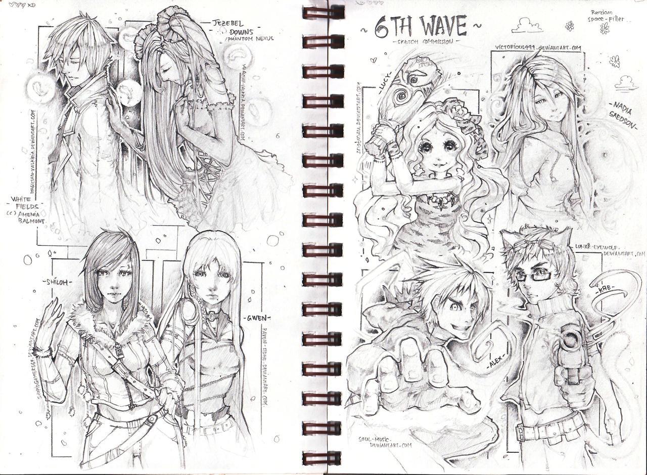 ::6th Wave Sketch com:: by Amdhuscias