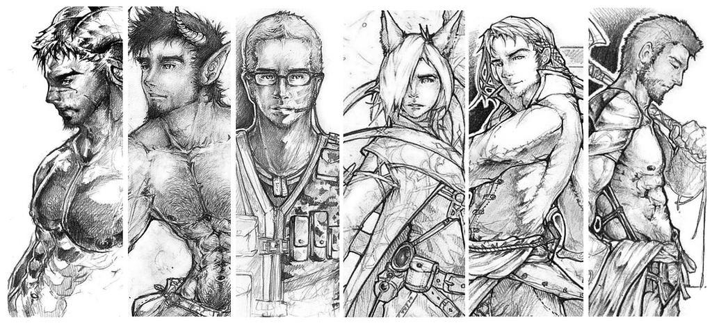 ::Sketches Compilation IX:: by Amdhuscias