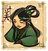 Collab: Jade eyes by Amdhuscias