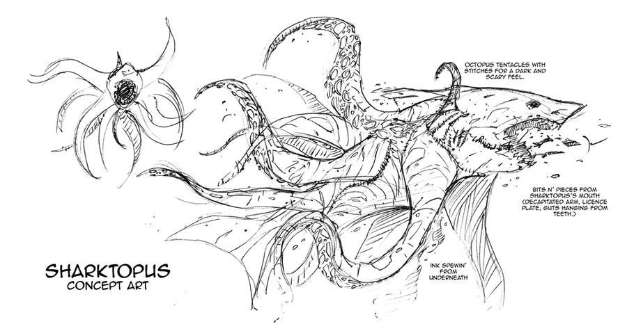 sharktopus concept art by djcomix
