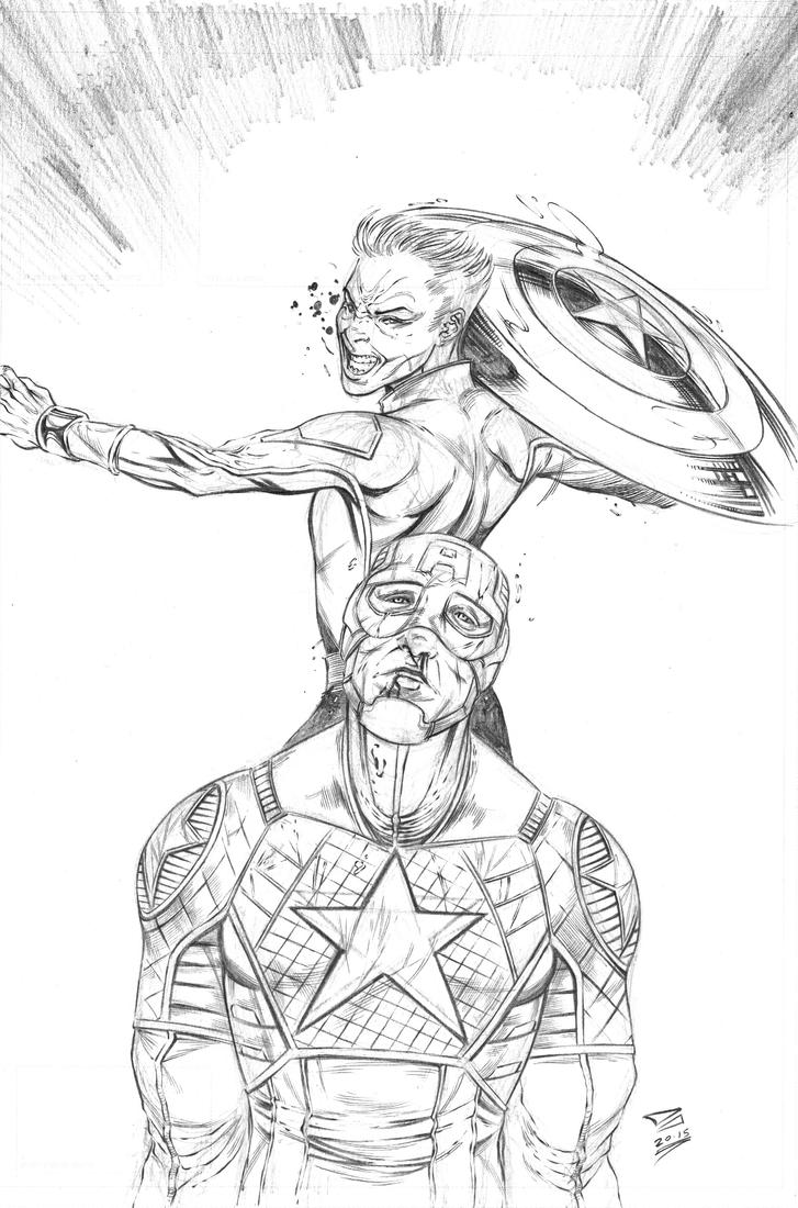 Captain America sample cover by DJCOMIX