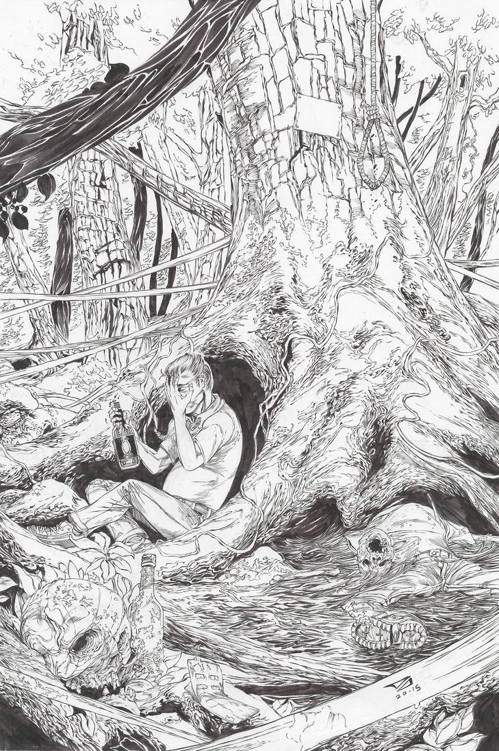 Jukai in ink by DJCOMIX