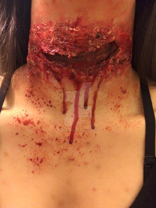 Cut Throat Up Close by Insaneymaney
