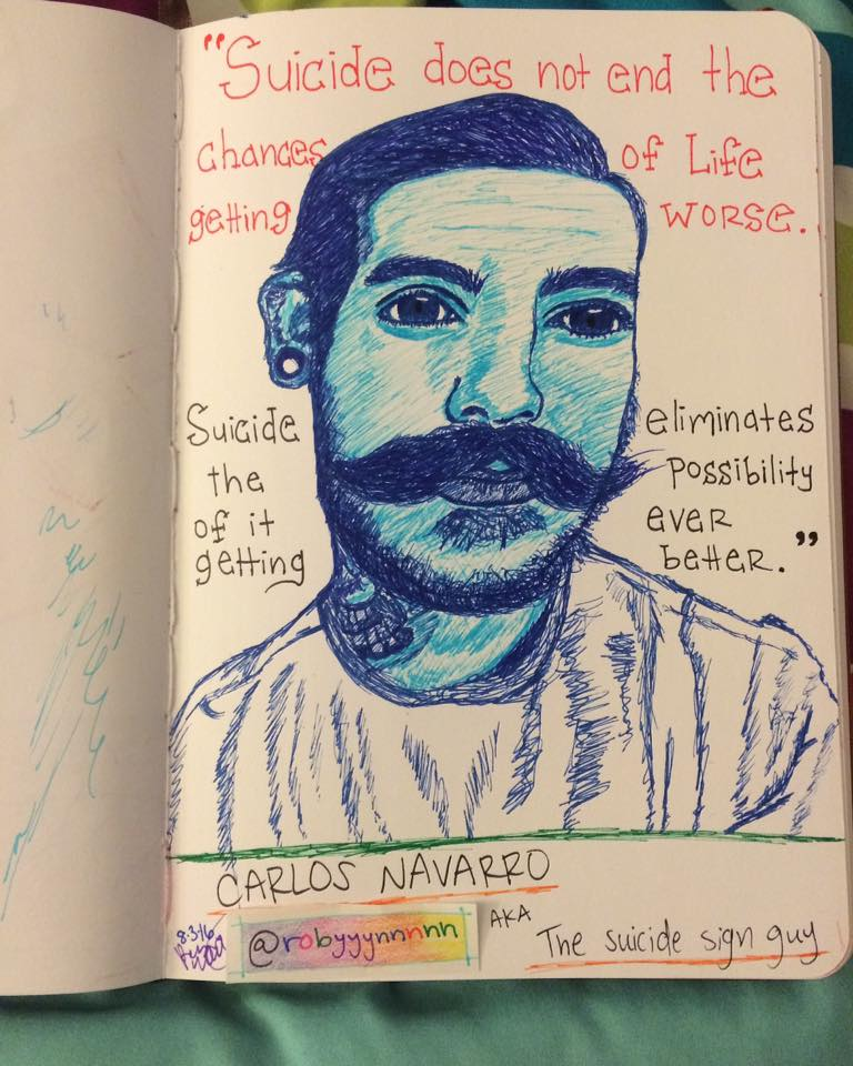Carlos Navarro - The Suicide Sign Guy by Insaneymaney