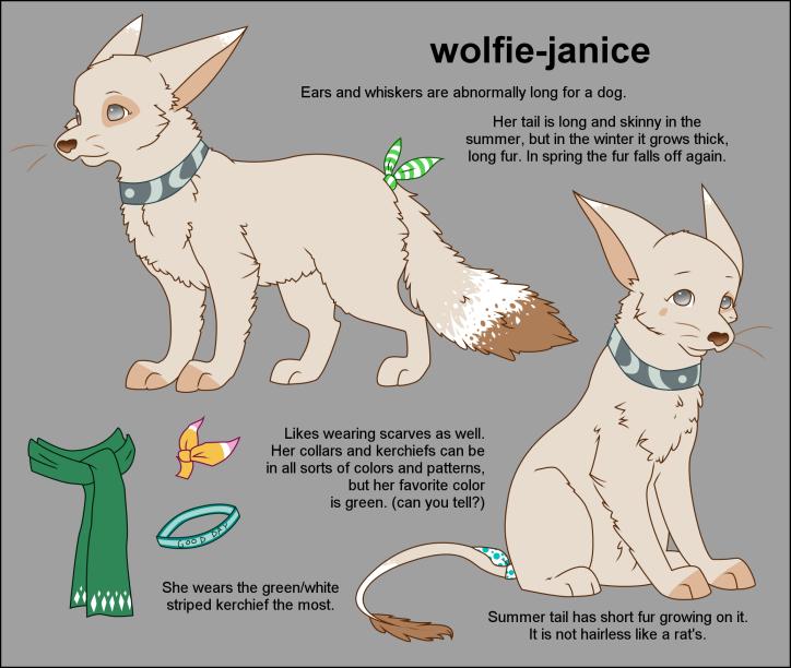 Fursona Reference by wolfie-janice