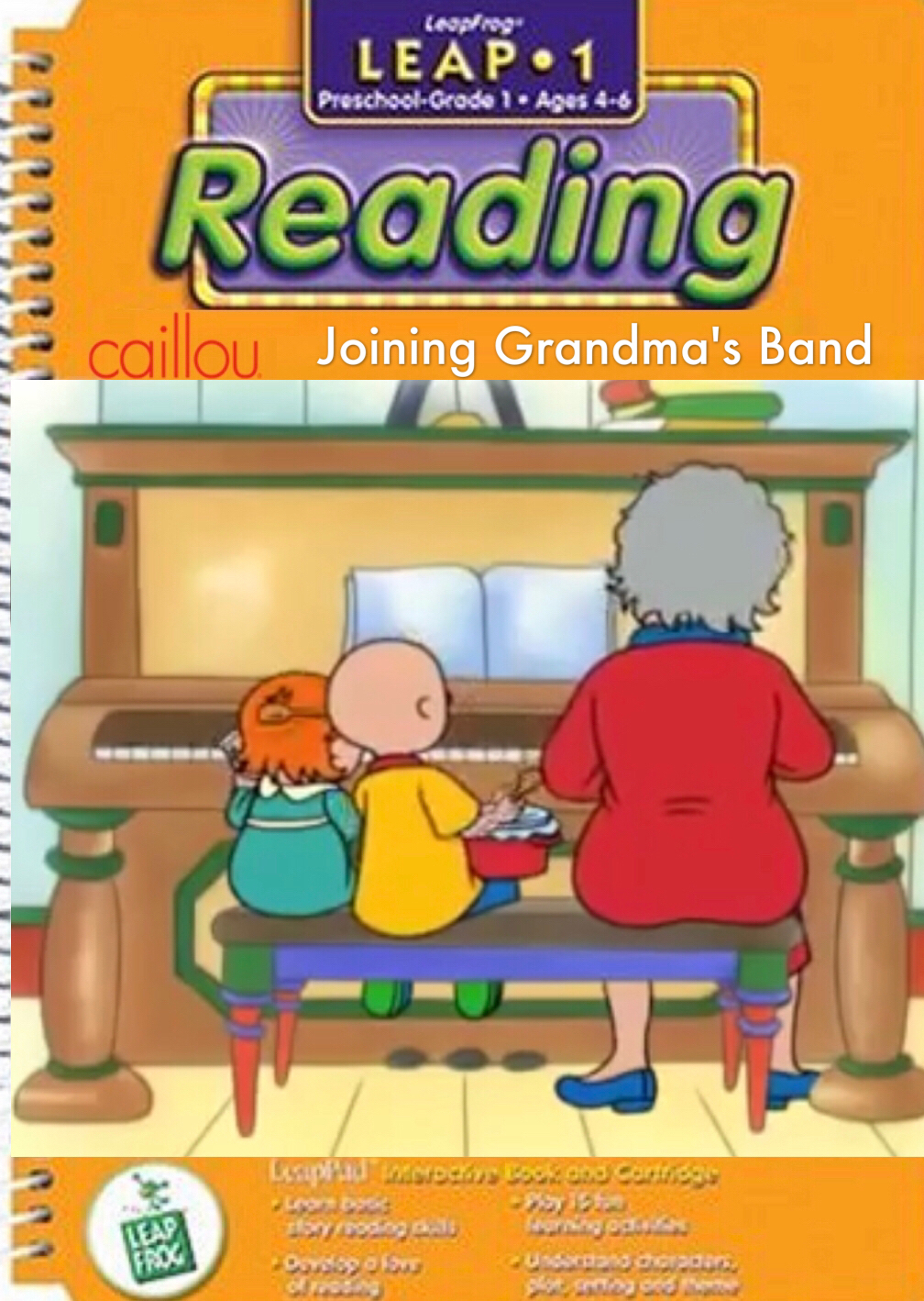 Unused LeapPad Games: Caillou Joins G's Band by smochdar on