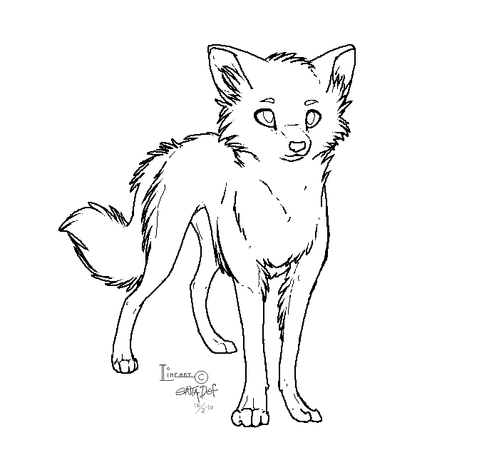 Wolf Lineart : Free wolf lineart by entadeath on deviantart