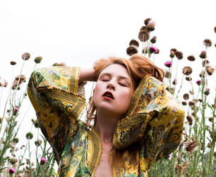 Another self portrait in the Thistles by astridkallsen