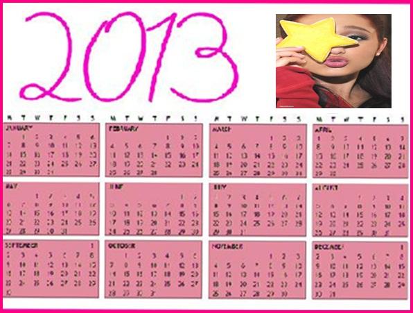 Calendario Grande.Calendario Ariana Grande 2013 By Jenn R On Deviantart