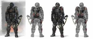 S.T.A.L.K.E.R. Exoskeleton concept art by hamburgercranium